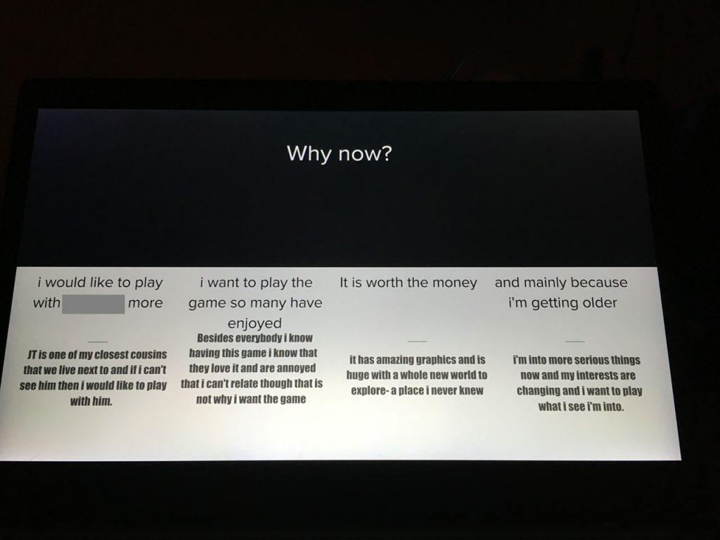 Я хочу играть с кузеном, эта игра всем нравится, она стоит своих денег и я повзрослел, так что мои интересы слегка изменились.