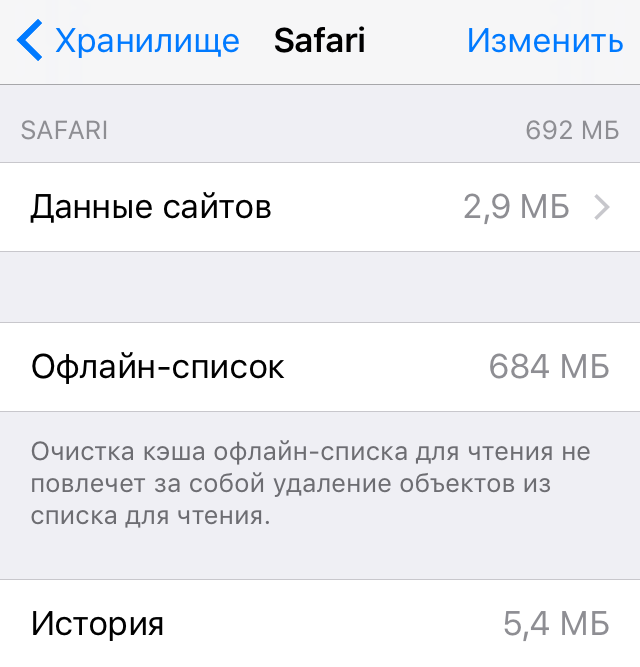 Как очистить хранилище на айфоне 5s