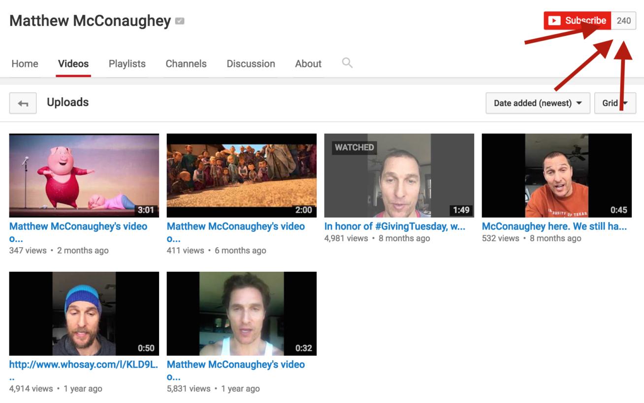 Matthew-McConaughey-youtube-channel