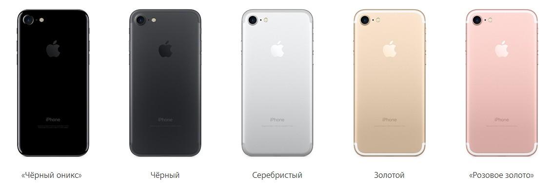 Цвет оникс айфон 7