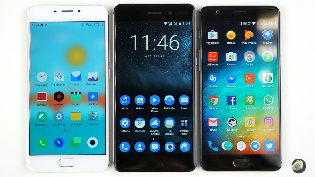 Meizu, Nokia, OnePlus - все на одно лицо