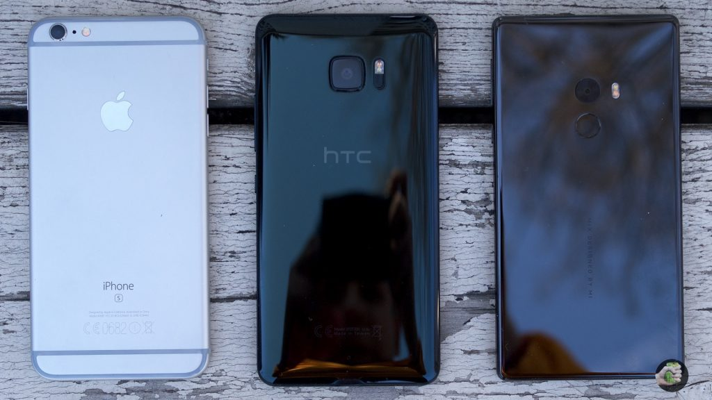 iPhone 6s Plus, HTC U Ultra, Xiaomi Mi Mix