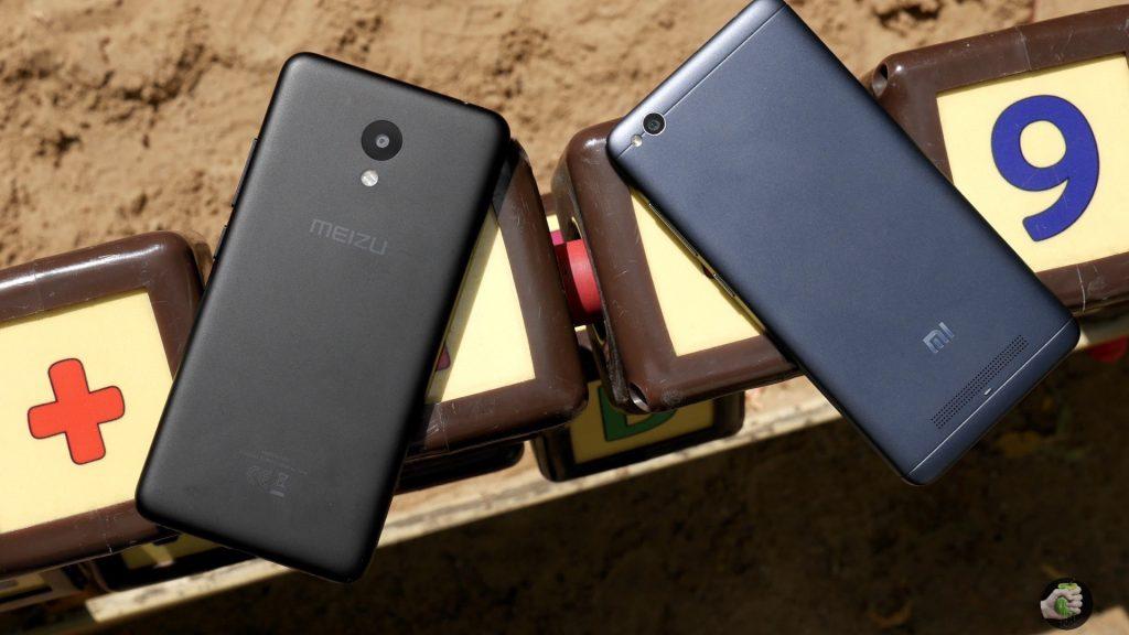Meizu M5c и Xiaomi Redmi 4A рядом