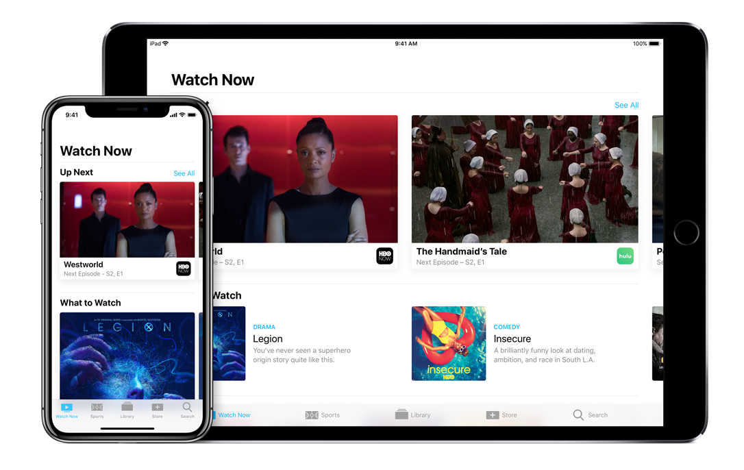 apple tv app ipad iphone x