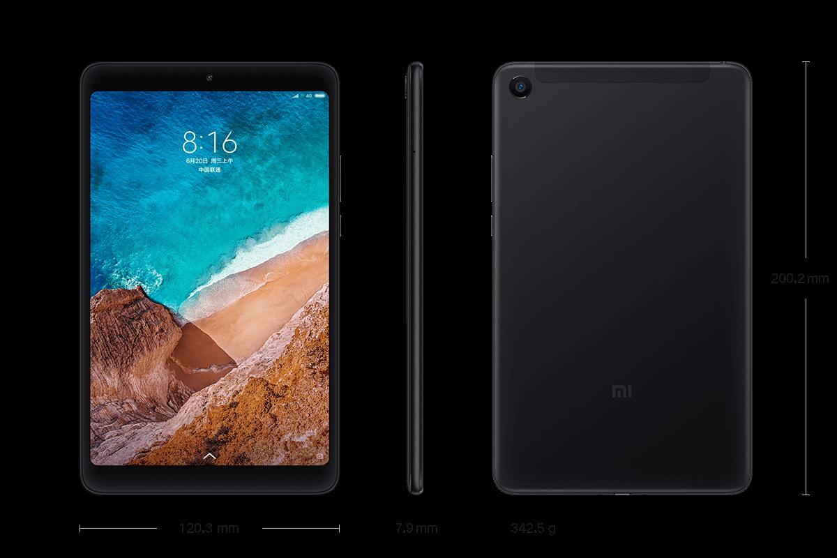 Xiaomi Mi Pad 4 размеры вес