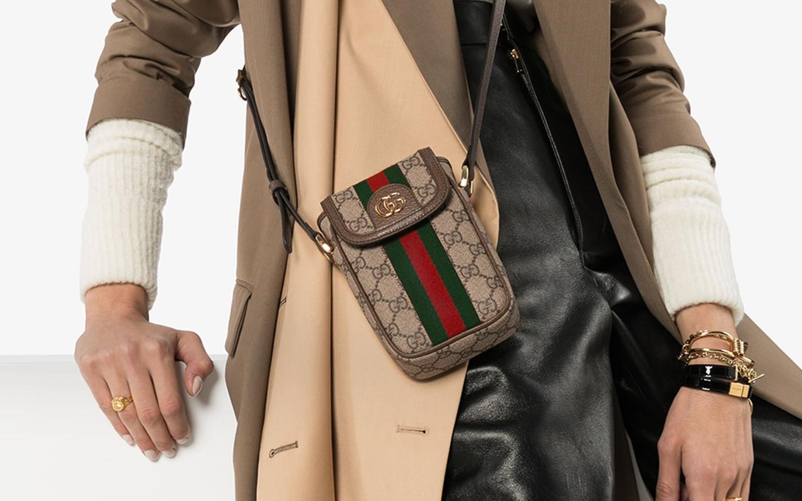 Вещь дня: небольшая сумка Gucci Monogram iPhone — Wylsacom