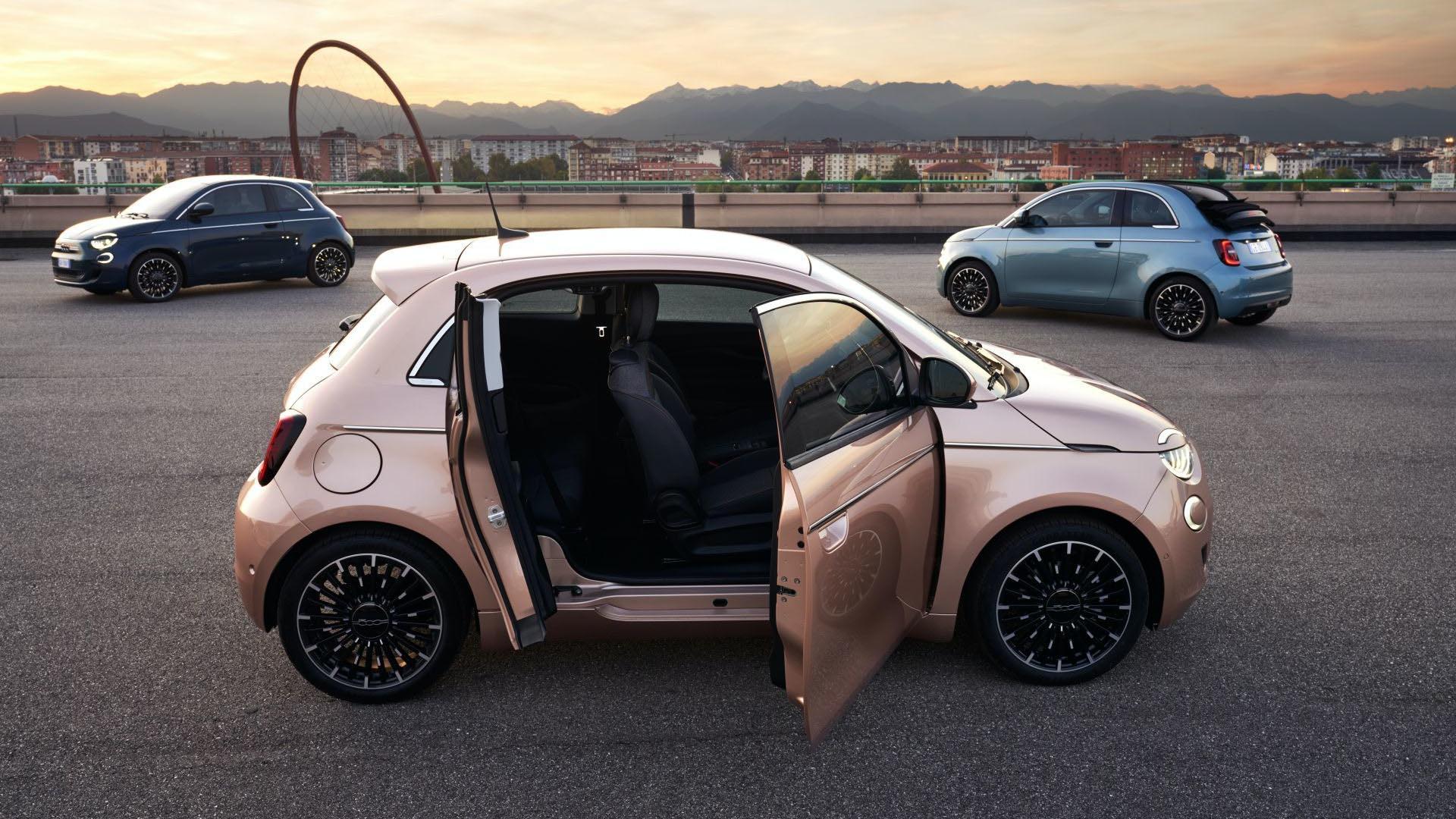 Представлен Fiat 500 3+1: асимметричный дизайн с дополнительной дверью для пассажиров
