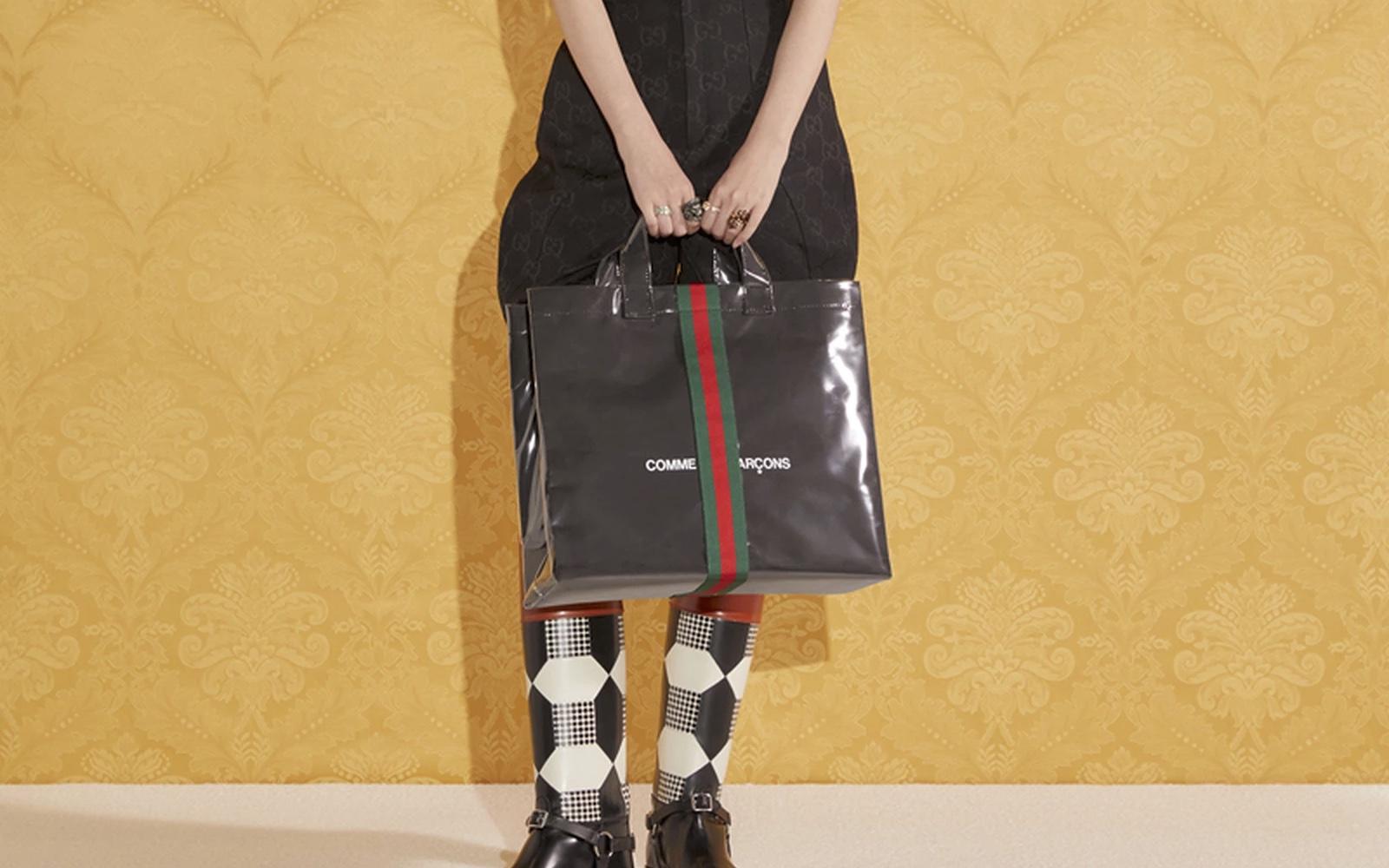 Gucci × COMME des GARÇONS— сумка для похода вмагазин